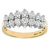 Naava Anillo para Mujer de Oro 9K con Diamante 1.0 CT Talla 6.5