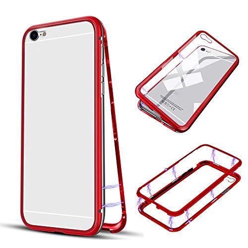 Momoxi Handyhülle, Phone Accessory Handy-Zubehör Für iPhone6Plus / 6Splu Magnetic Metal Bumper gehärtetes Glas + PET-Membran, begrenzte Anzahl