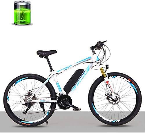 RDJM Bici electrica 26-Inch Electric Mountain Litio for Bicicleta, 36V250W Motor / 10AH batería de Litio Bicicleta eléctrica, Velocidad 27-Macho y Hembra Adulta Variable Off-Road Racing Speed