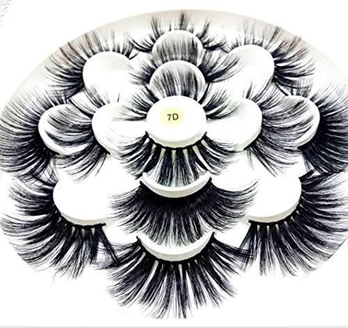 MBV 1/3/7 Paires 25 mm de Long Cils Long Volume Faux Cils Maquillage Extension de Cils, Style de mélange