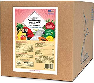 LAFEBER'S Premium Tropical Fruit Pellets Pet Bird Food, Made with Non-GMO and Human-Grade Ingredients, for Macaws & Cockat...