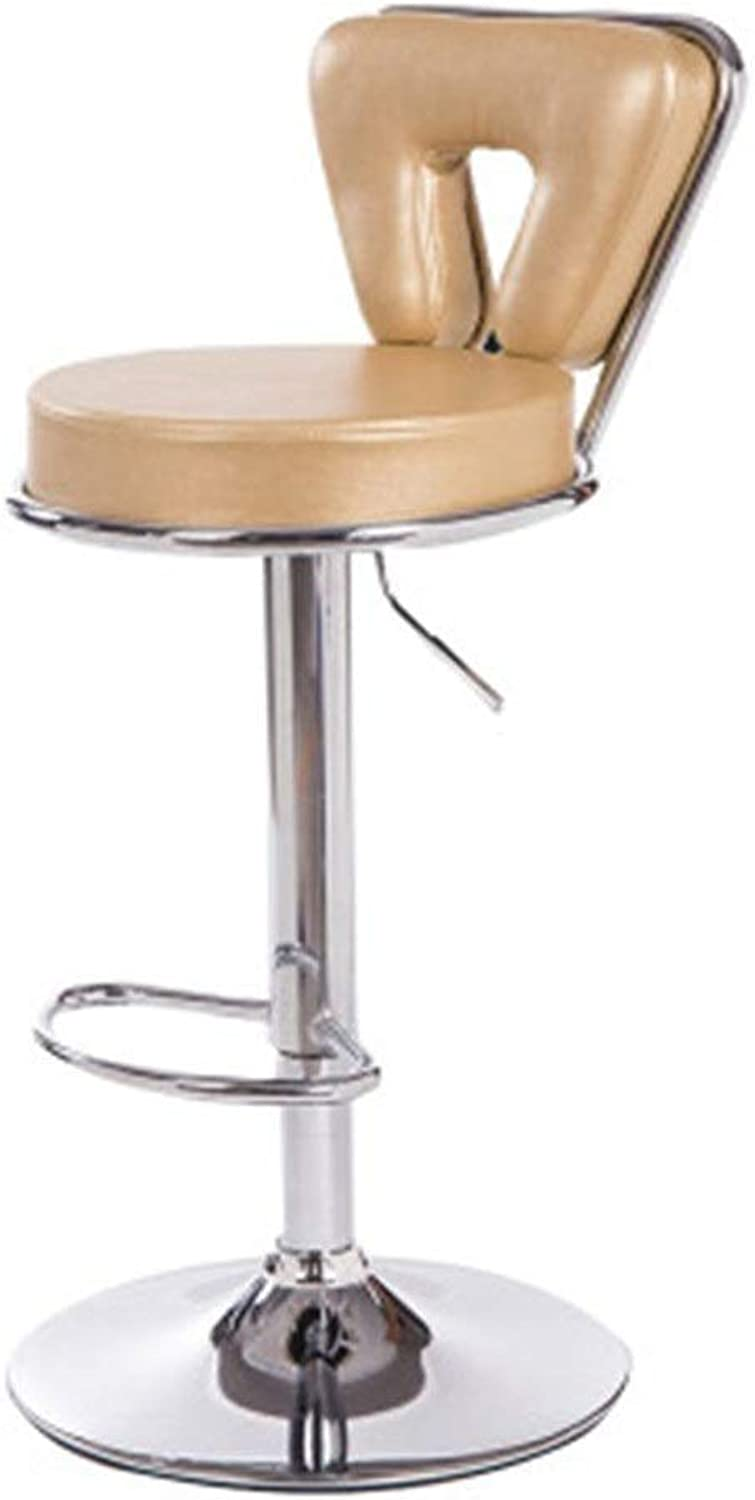 18-24 Inch Liftable Leather Bar Stool High Stool, Height Adjustable 360° Freely redating Counter Chair, Restaurant Cafe Hair Salon