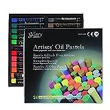 TJFGJ 12/24 Colores Fluorescentes Artista Suave Pastel del Aceite seco metálico lápices de Colores for Dibujo Pesados Tizas del Color Papel de la Oficina de Cera (Color : MOP 24MF)