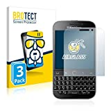 BROTECT Panzerglas Schutzfolie kompatibel mit BlackBerry Classic Q20 (3 Stück) - AirGlass, 9H Festigkeit, Anti-Fingerprint, HD-Clear