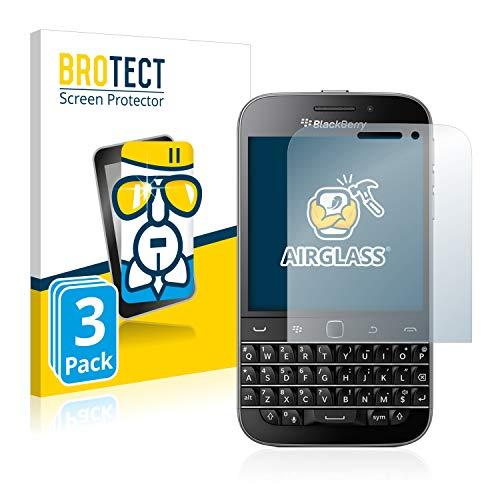 BROTECT Panzerglas Schutzfolie kompatibel mit BlackBerry Classic Q20 (3 Stück) - 9H Extrem Kratzfest, Anti-Fingerprint, Ultra-Transparent