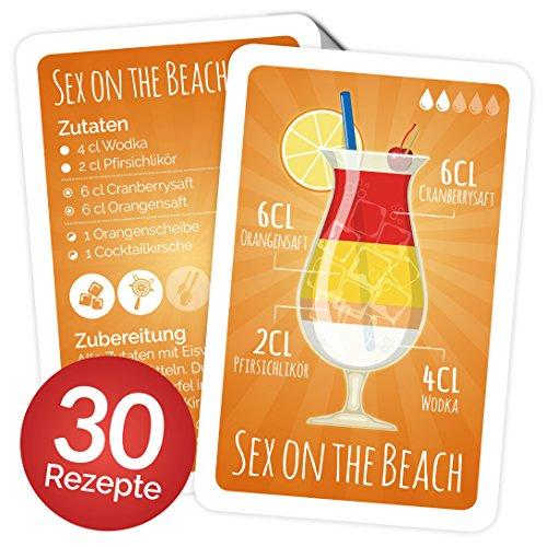 Chroma Products Cocktail Rezepte auf Karten: 30 Cocktailrezepte und Erklärungen cellophaniert, Rezepte auf Deutsch, Kartenspiel Oder Quartett als Geschenk