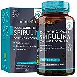 Spirulina Biologica 3000 mg con Ficocianina Grezza 19% - 600 Compresse Vegane - 500mg con Compresse...
