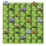 AkiiGer 49 bolsillos verticales para colgar en la pared, para casa, oficina, balcón, jardín, terraza, decoración (verde)