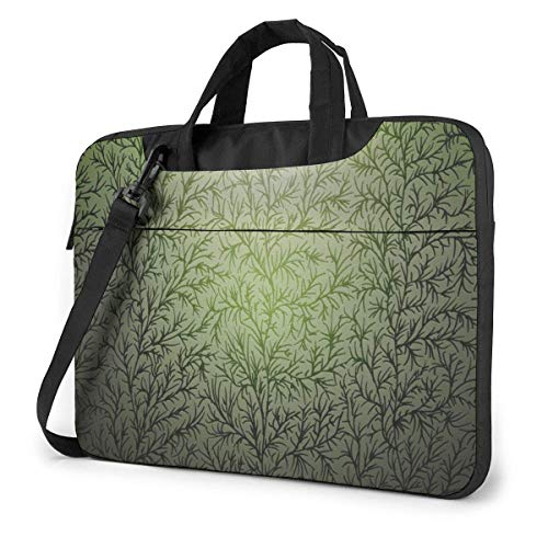 IUBBKI Laptop Case Computer Bag Sleeve Cover Seaweed Pattern Waterproof Shoulder Briefcase 13 14 15.6 Inch