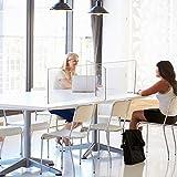 Creechwa Schreibtisch-Trennwand für den Empfang, transparente Bildschirme, Trennwände, Arbeitsflächenschutz, Trennwände