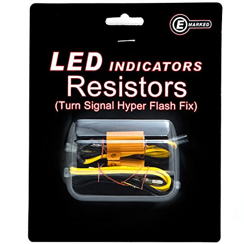 Krator Led Bulb Load Resistors Flash Turn Signal Fix Compatible with Ducati Monster 696 750 848 851 900 1000