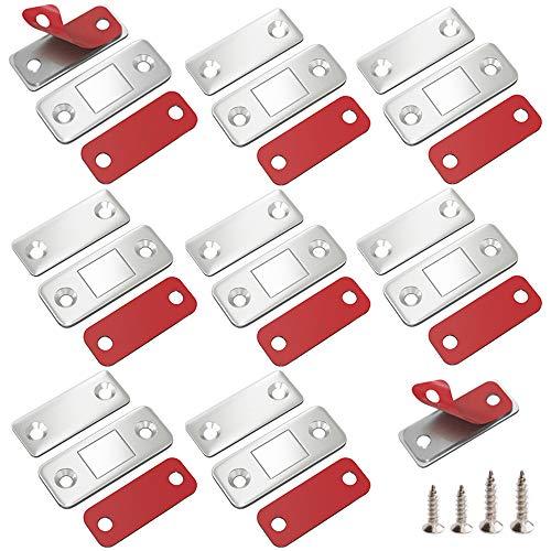 Magnetschnäpper Schranktür Magnet Jiayi 8 Stück Ultra Dünn Tür Fang Magnet Schublade Selbstklebend Tür Magnetverschluss Möbelmagnet Türverschluss für Kabinett Balkontü Schiebetür Magnetschloss