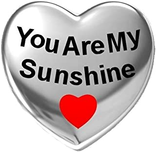 You are My Sunshine Red Enamel Heart Love 925 Silver Bead Fit Pandora Charms