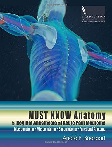 Must Know Anatomy for Regional Anesthesia and Acute Pain Medicine: Macroanatomy - Microanatomy - Sonoanatomy - Functional Anatomy