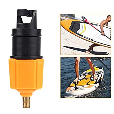 Inflatable Boat SUP Pump Adaptor Air Pump Converter, Standard Schrader Conventional Pump Adaptor Air Valve Adapter Pumping Head Connector for Inflatable Rowing Boat,Stand Up Paddle Board (Orange)