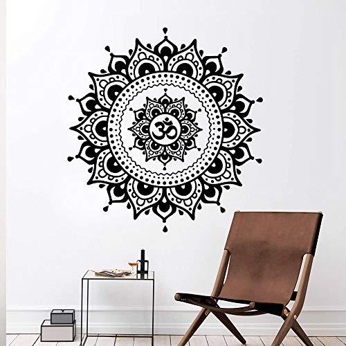 LSMYE Buntes Indien Yoga Mandala Selbstklebendes wasserdichtes Wandkunst-Wohnkultur-Wohnzimmer-Schlafzimmer-Wandkunst-Wandbild Grün XL 57 cm x 56 cm