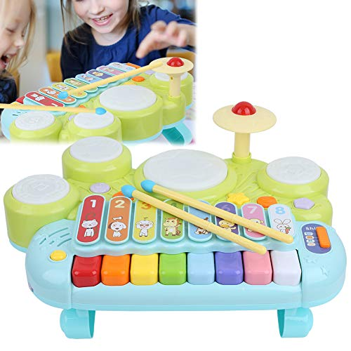 Brinquedos de instrumentos musicais, brinquedos de aprendizagem educacional inicial Conjunto de bateria de piano suave Conjunto de brinquedos de bateria de xilofone com plástico de alta