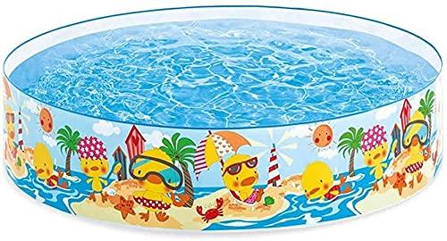 Ghongrm Piscina para niños - Fácil de configurar Snapset Kiddie Pool - Piscina al Aire Libre
