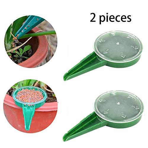 GUOQY 2pac Dispensador de Semillas, Herramienta de jardinería 5 Engranajes Que Pueden ajustarse para Adaptarse a Varios tamaños de sembradoras, transplantadoras