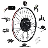Ebike Conversion Kit 48V 1500W 700C (NOT 26') Direct Drive Waterproof Electric Bike Conversion Kit - Ebike Kit - Rear Wheel Hub Motor Kit S830 LCD Display (Rear/LCD/Twist)