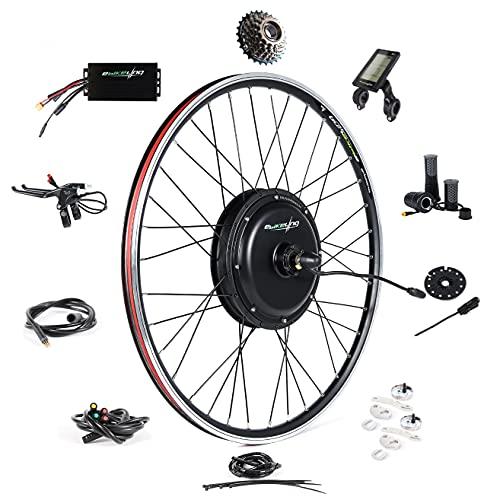 "Ebike Conversion Kit 48V 1500W 700C (NOT 26"") Direct Drive Waterproof Electric Bike Conversion Kit - Ebike Kit - Rear Wheel Hub Motor Kit S830 LCD Display (Rear/LCD/Twist)"
