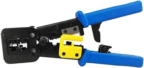 YOUZHA Network Tools EZ RJ45 crimptång isoleringsstång RJ12 Cat5 Cat6 pressnång Clip Clipper multifunktionskit, ljusblå