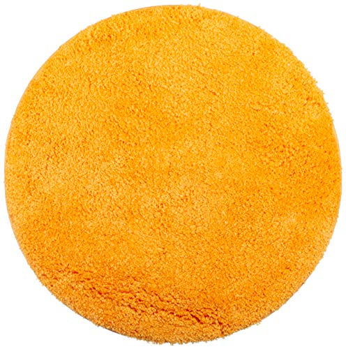 Brandsseller – Alfombrilla de baño, Redonda, diámetro de 60 cm, poliéster, Naranja, 60 cm