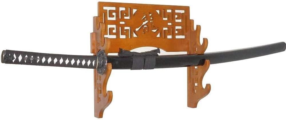 SaojKghJ Schwertst/änder 1-4 Tier Wandhalterung Bambus Samurai-Schwert-Rack Hanger Katana Wakizashi Tanto Genji Schwerthalter-Bushido,1Tier