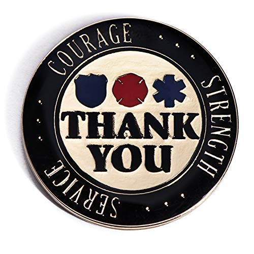Anderson's Thank You for Your Service Lapel Pin Set, Appreciation Gifts, Set of 12