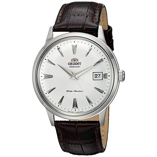 """Orient Männer-Armbanduhr """"2. Gen. Bambino Ver. 1"""", japanisch, automatisch, aus Edelstahl und Leder, Farbe: Braun (Mod..."""