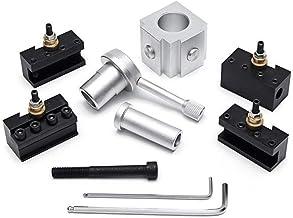 CENPEN Mini soporte de herramienta de cambio rápido con 9 barras de mandrinar de 3/8 pulgadas y 5 piezas de soporte de herramienta de hoja indexable