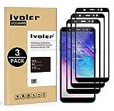 ivoler [3 Unidades] Protector de Pantalla Compatible con Samsung Galaxy A6+ 2018 / A6 Plus 2018, [Cobertura Completa] Cristal Vidrio Templado Premium, [Dureza 9H] [Anti-Arañazos] [Sin Burbujas]