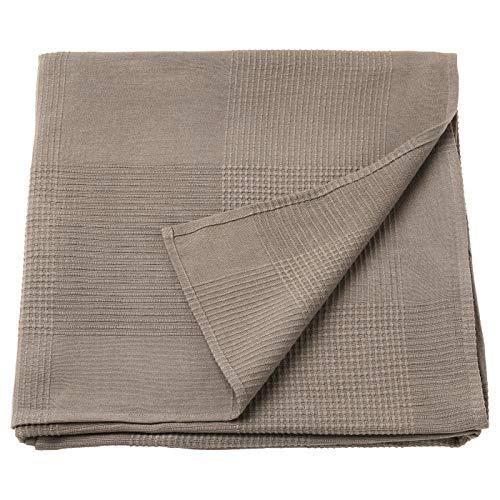 IK IKEA Indira - Colcha Individual 100% algodón, Color marrón Claro, 150 x 250 cm