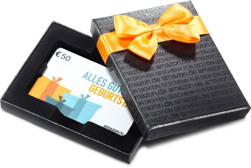 Amazon.de Box mit Geschenkkarte - 50 EUR (Geburtstag)