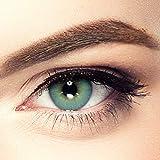 LUXDELUX PREMIUM natürliche Kontaktlinsen für dunkle Augen aus Silikon-Hydrogel D2111 Tropical Green grün -