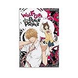 JKDS Póster de anime con diseño de chica de lobo y príncipe negro de 20 x 30 cm