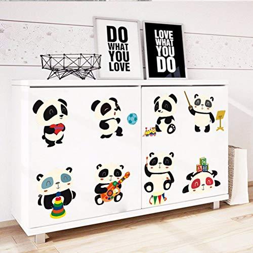 TAOYUE Happ Panda Schakelaar Muurstickers Laptop Wallpaper Kids Kamer Decor Vinyl Verwijderbare Wandposter DIY muurschildering Kunst Dieren Decals