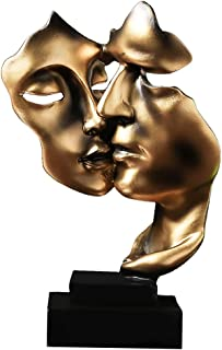 Fenteer Silence est d'or Figurines-Faits À La Main Silencieux Hommes Statues Résine Abstraite Sculpture Home Office Décor ...