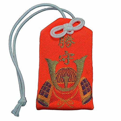 Dershogun o Mamori de Japón Amuleto de la Suerte para Naranja Rojo