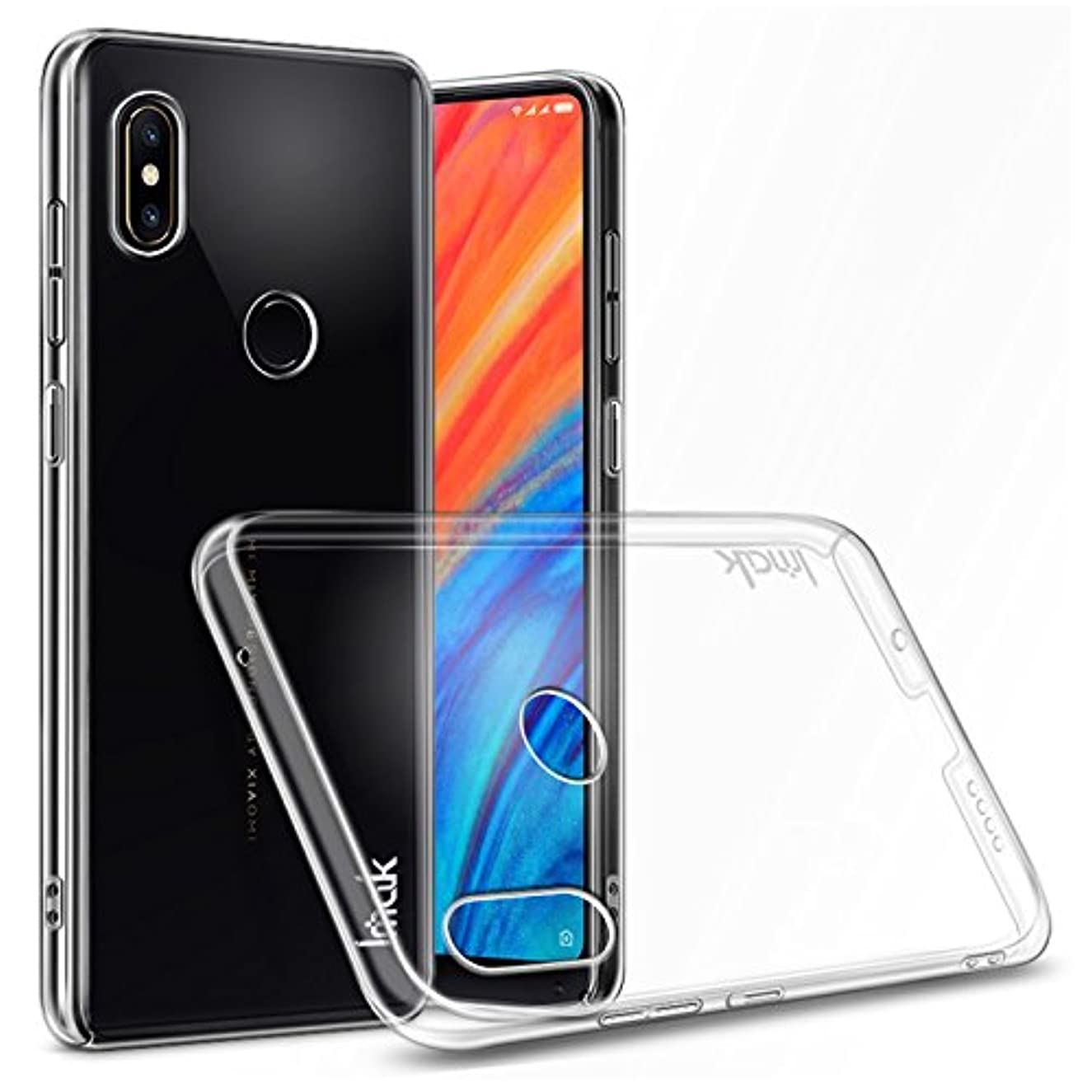 Imak Xiaomi Mi Mix 2S Mix2s Case, Transparent Solid Plastic Case [Ultra Thin & Light] [Anti-Yellowing] Full Protection Crystal Clear Cover with Lanyard Hole