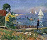 William James Glackens Giclee Imprimir en Papel-Pinturas Famosas Arte Fino Póster-Reproducción Decoración de Pared(William Glackens se baña en Bellport) #XZZ