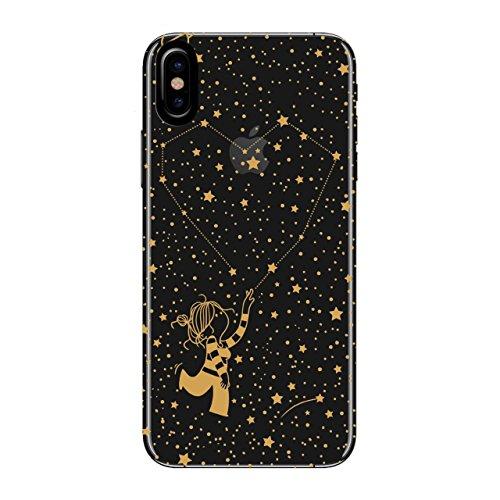 LA VOLATIL Funda Smartphone - Diseño Original Estrellas Compatible con Apple iPhone X/XS