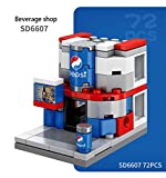Jacos City Building Blocks with Shops, Mini Street Shop Corner Store Building Block Set Kids Toys Birthday Gifts for Boys & Girls
