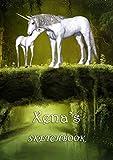 Xena's Sketchbook: Xena Personalised Custom Name A4 Sketchbook / Sketchpad / Workbook - Unicorn Fami...
