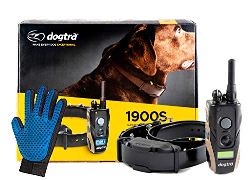 Dogtra 1900S Dog Training Collar with Remote -3/4 Mile Range Dog Locator - Includes Extreme Consumer Products Soft Silicone Pet Grooming Glove