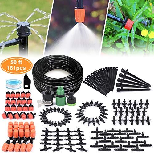 HZT Micro Kit di irrigazione a Goccia; DIY Patio Plant Watering Kit; Sistema irrigazione Giardino nebulizzazione Sistema di Raffreddamento con Mister ugello spruzzatore per pentole e contenitori