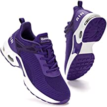 Women Air Athletic Running Shoes - Air Cushion Shoes for Womens Mesh Sneakers Fashion Tennis Breathable Walking Gym Work Shoes Purple