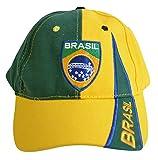 Flaggenfritze Kappe Motiv Brasilien Fahne, fan - Cap mit brasilianischer Fahne