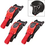 HonsCreat 3PCS Motorcycle Helmet Speed Clip Chin Strap Buckle Quick Release Disconnect Pull Buckle