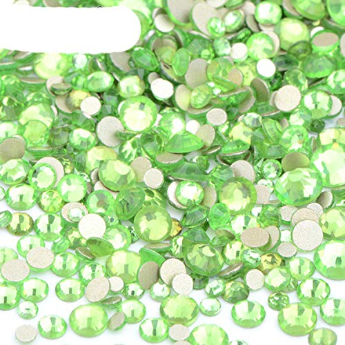 1400 Piezas de tamaño Mixto, Cristales AB Brillantes, uñas de Cristal, Diamantes de imitación, decoración de Piedra con Parte Posterior Plana, Pegatina para uñas, no Hot Fix Strass Ongle